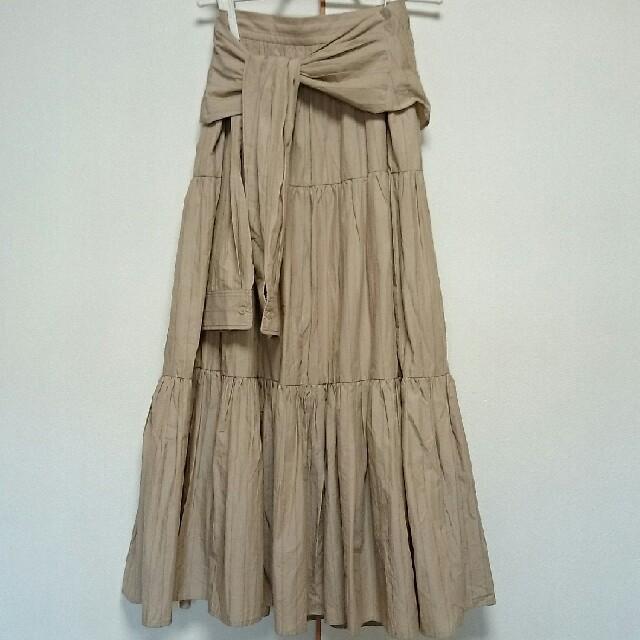 FRAY I.D(フレイアイディー)の19ss フレイアイディー ティアードロングスカート レディースのスカート(ロングスカート)の商品写真
