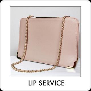 リップサービス(LIP SERVICE)のLIP SERVICE チェーンスクエアショルダーバッグ rienda ムルーア(ショルダーバッグ)