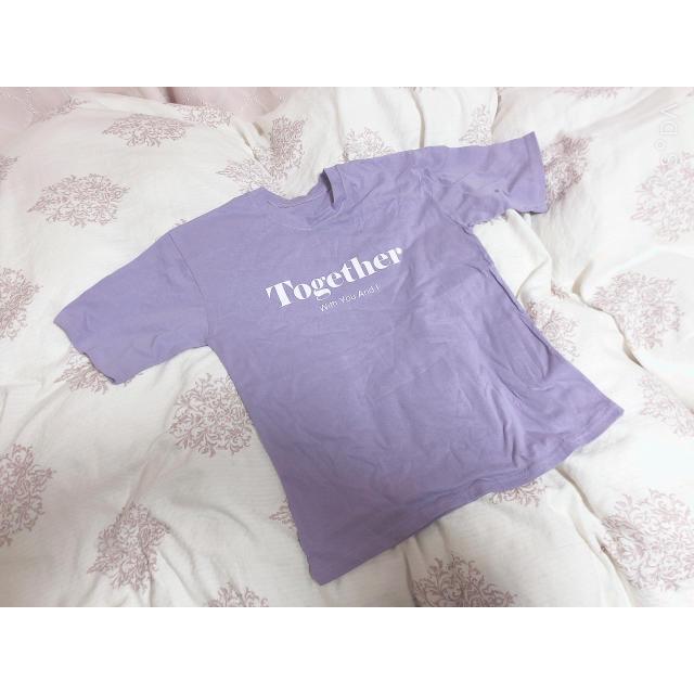 ロゴTシャツ 半袖 パープル レディースのトップス(Tシャツ(半袖/袖なし))の商品写真