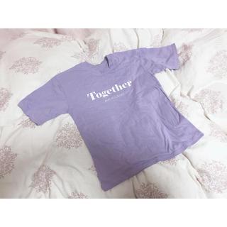 ロゴTシャツ 半袖 パープル(Tシャツ(半袖/袖なし))