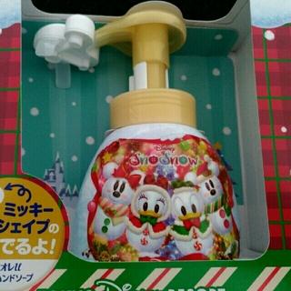 Disney - 2019クリスマス ミッキーシェイプの泡がでるハンドソープ