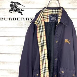 BURBERRY - 【激レア】バーバリーBurberry☆刺繍ロゴ入りステンカラーコート 希少カラー