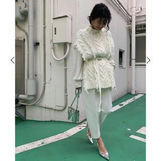アメリヴィンテージ(Ameri VINTAGE)のアメリ♡ポンチョベスト♡ホワイト♡(ポンチョ)