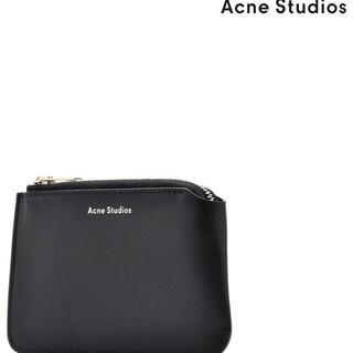 アクネ(ACNE)のアクネ  コインケース ブラック 小銭入れ レザー 革 財布 プレゼント(コインケース)