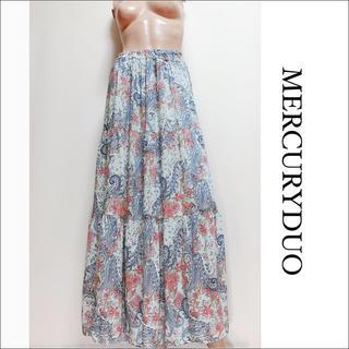 MERCURYDUO - MERCURY DUO ペイズリー柄 マキシスカート♡MIIA deicy