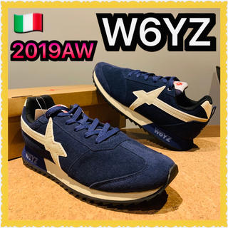 BEAMS - w6yz fry-m オールレザー Navy