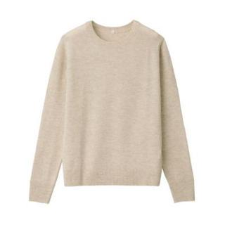 MUJI (無印良品) - ヤク混ウールクルーネックセーター