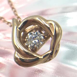 K18PG ダイヤモンド D0.05ct デザイン ネックレス 40cm(ネックレス)
