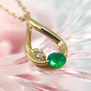 スタージュエリー(STAR JEWELRY)のスタージュエリー K18 エメラルド ダイヤ デザイン ネックレス 40cm(ネックレス)