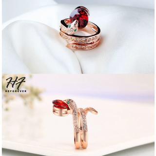 新品◆ヘビのリング④ レッド9号(リング(指輪))