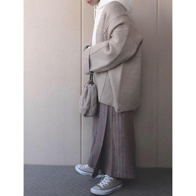 TODAYFUL(トゥデイフル)のselectMOCA セレクトモカ ノーカラーオーバーサイズニットコート  レディースのジャケット/アウター(ノーカラージャケット)の商品写真
