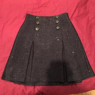 Lily Brown - リリーブラウン ジャガードスカート ブラック