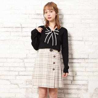 INGNI - イング INGNI ビット付起毛チェック柄台形/スカート