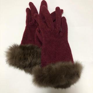 コムサイズム(COMME CA ISM)のコムサイズム お上品ラビットファー手袋 (手袋)