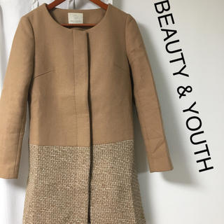 BEAUTY&YOUTH UNITED ARROWS - BEAUTY & YOUTH ノーカラーコート