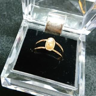 アネモネ(Ane Mone)の新品!虹色のピンクゴールドの指輪(リング(指輪))