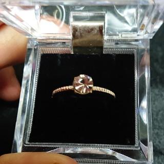 ローリーズファーム(LOWRYS FARM)の新品!キュービックジルコニアのピンクゴールド指輪(リング(指輪))