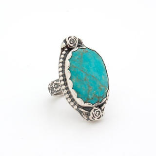 Turquoise Rose Silver Ring(リング(指輪))
