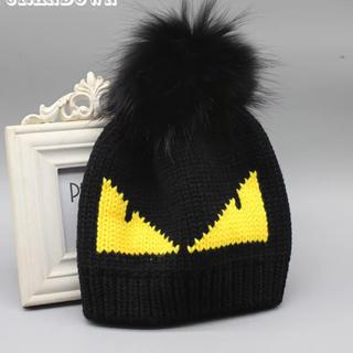 フェンディ(FENDI)のニット帽(ニット帽/ビーニー)