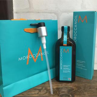 モロッカンオイル(Moroccan oil)のモロッカンオイル200m ポン付きショップ袋付き 正規品(オイル/美容液)