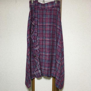 Mila Owen - ツイードヘムラインロングスカート