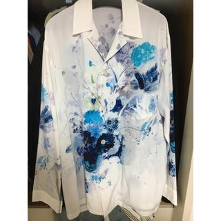 ラッドミュージシャン(LAD MUSICIAN)のLAD MUSICIAN 19ss 花柄オープンカラーシャツ 白(シャツ)
