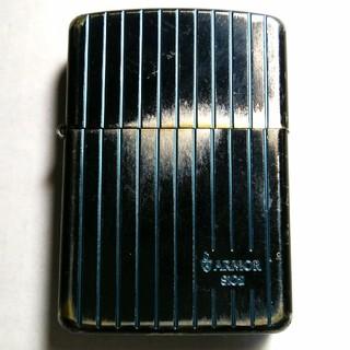 ジッポー(ZIPPO)のabc様専用 連休価格Zippoアーマー black青縦筋(タバコグッズ)