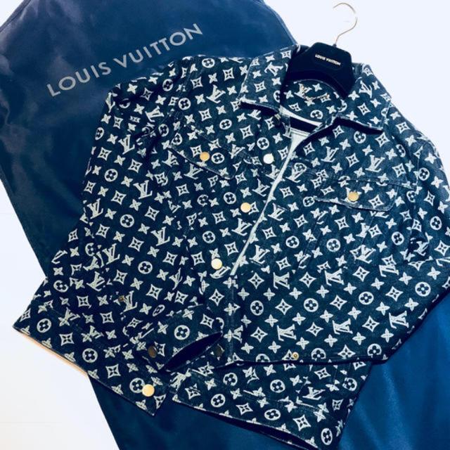 LOUIS VUITTON(ルイヴィトン)のルイヴィトン モノグラムデニムジャケット メンズのジャケット/アウター(Gジャン/デニムジャケット)の商品写真