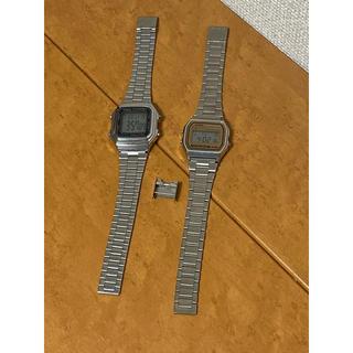 カシオ(CASIO)のCASIO カシオ WATER RESIST WR ステンレスベルト 2本 時計(腕時計(デジタル))
