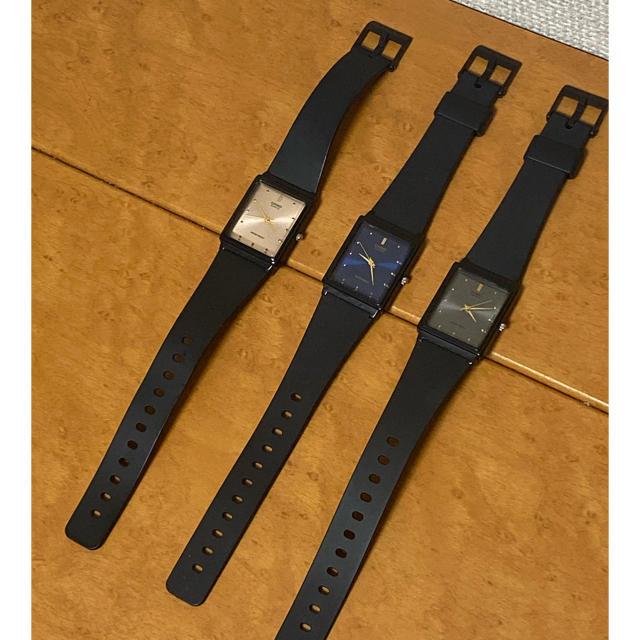 CASIO - CASIO カシオ WATER RESIST 3本 セット ペア スクエア 時計の通販