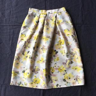 SHIPS - 【未使用品】BE NEAT 花柄のミモレ丈スカート F