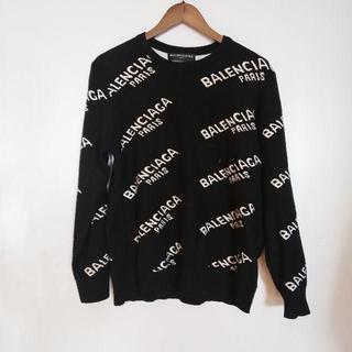 Balenciaga - balenciagaジャガードロゴ クルーネックセーター