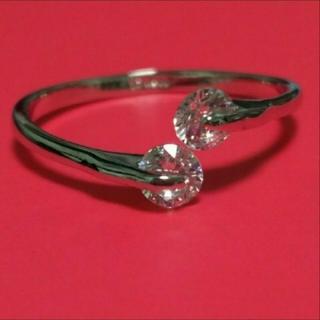 SWAROVSKI - f5❇️アルメリア❇️ 0.25㌌ ダイヤモンドキュービックジルコニア リング