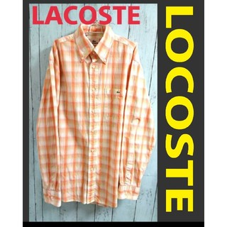 ラコステ(LACOSTE)のLACOSTE ラコステ ワンポイントロゴ 長袖 チェック シャツ(シャツ)