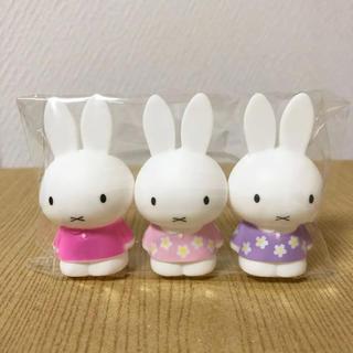 雑貨フェスタ限定 ミッフィー ソフトマスコット 3個セット 花柄 ピンク 紫