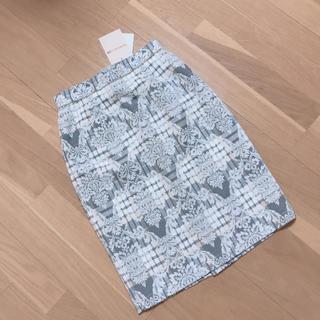 Apuweiser-riche - アプワイザーリッシェ チェックジャガードタイトスカート
