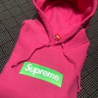 Supreme - 17aw  supreme boxlogo hoodie pink