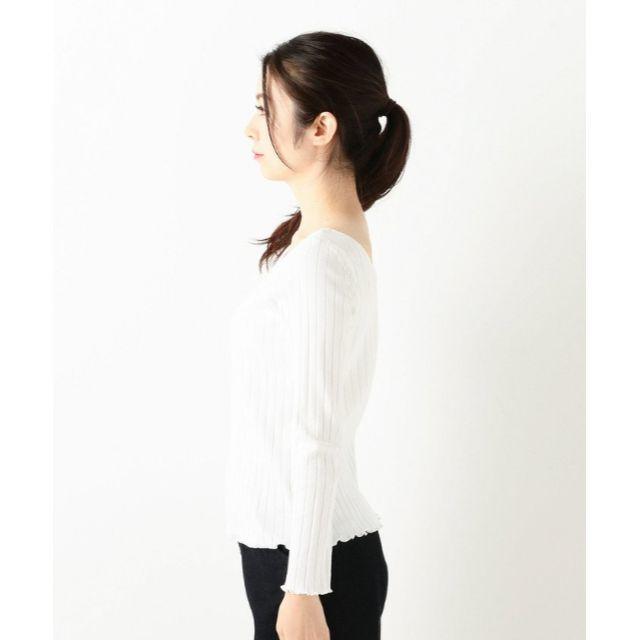 archives(アルシーヴ)の【新品】archives ロゴ刺繍 テレコ TシャツM ブラック レディースのトップス(Tシャツ(長袖/七分))の商品写真