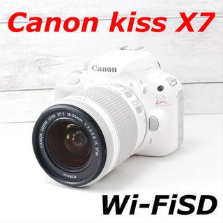 Canon - ❤️希少ホワイトカラー❤️スマホ転送❤️Canon kiss X7