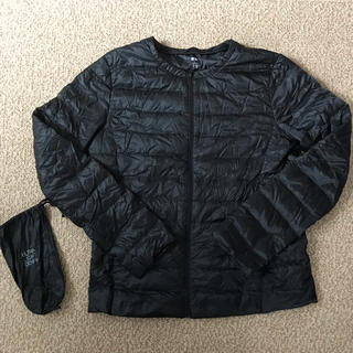 UNIQLO - ユニクロ ウルトラライトダウン インナーダウンジャケット レディースL 黒 美品