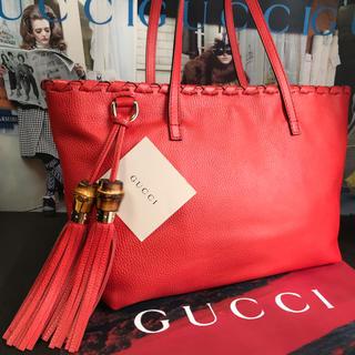 Gucci - 【正規品】極美品 ✨ GUCCI グッチ バンブー タッセル トート 肩掛け可能
