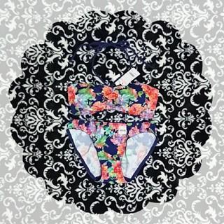 aimer feel - エメフィール 花柄 チューブブラ ブラショーツセット S