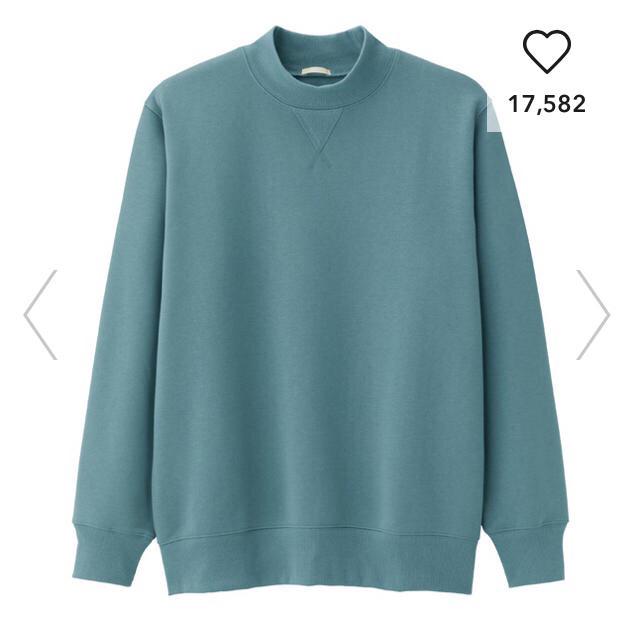 GU(ジーユー)のGU  スウェットモックネックシャツ(長袖) メンズのトップス(スウェット)の商品写真