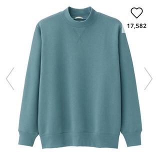 GU - GU  スウェットモックネックシャツ(長袖)