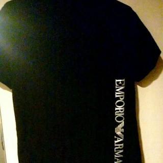 Emporio Armani - 日本製 エンポリオアルマーニ バックプリント有り Tシャツ