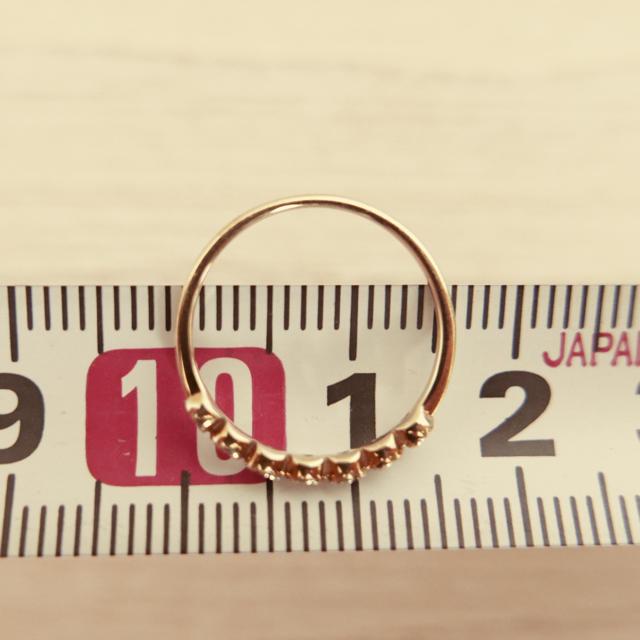 ete(エテ)のete エテ ピンキーリング k10 5号? 美品です レディースのアクセサリー(リング(指輪))の商品写真