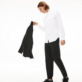 ラコステ(LACOSTE)の新品☆ LACOSTE 白ドレスシャツ☆Yシャツ☆Lサイズ ストレッチ(シャツ)