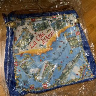 トプカピ(TOPKAPI)のトプカピ マイルドサテンスカーフパネル柄 ブルー (トートバック)(トートバッグ)