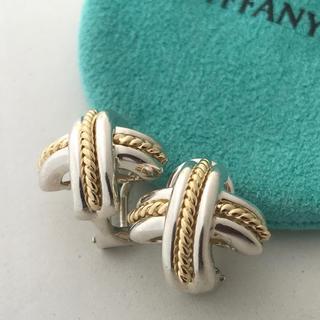 Tiffany & Co. - Tiffany シグネチャーコンビピアス 美品
