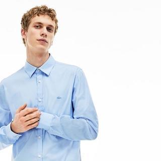 ラコステ(LACOSTE)の☆新品☆LACOSTE ライトブルー ドレスシャツ ☆Yシャツ☆Lサイズ(シャツ)